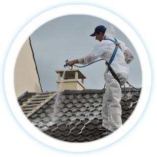 d moussage nettoyage imperm abilisation hydrofugation tuiles toit toiture traitement. Black Bedroom Furniture Sets. Home Design Ideas